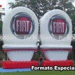 formatos especiais inflavel promocional fiat
