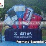 Formato especial inflavel pinceis atlas