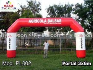 Inflatable portal in maranhao