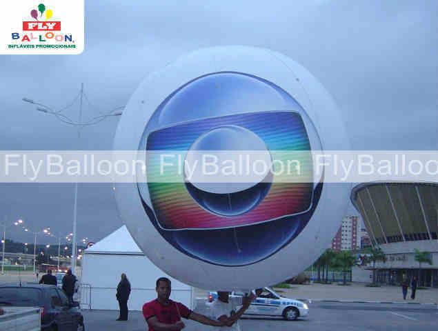 balao blimp aereo promocional aereo tv globo sp