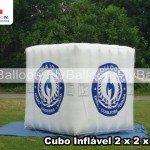 cubo inflavel promocional escola do gas