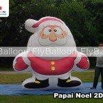 papai noel inflavel gigante promocional 2d