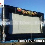 tela de cinema inflavel promocional instituto dagaz