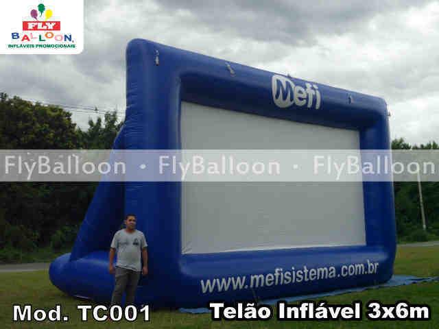 tela de cinema inflavel promocional mefi sistema