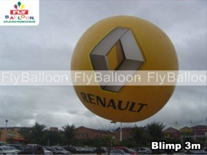 balao aereo inflavel promocional renault