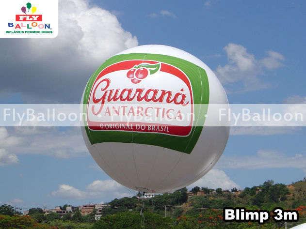 balao blimp aereo promocional guarana antarctica