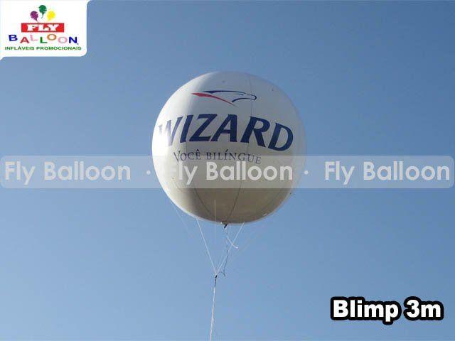 balao blimp aereo promocional wizard