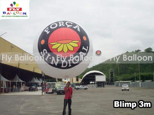 Baloes Blimp Aereos promocionais forca sindical