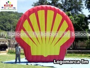 logotipo inflavel promocional shell