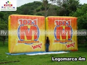 logomarcas inflaveis promocionais radio metropolitana