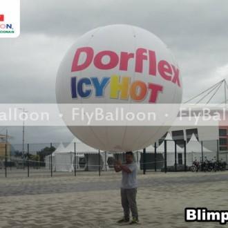balao promocional blimp dorflex