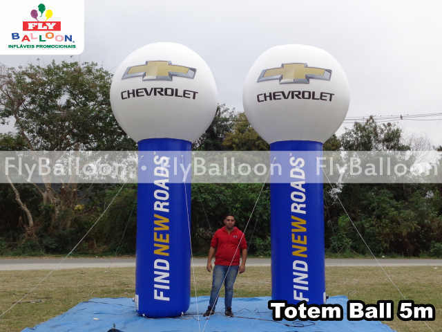 Balao Inflavel Totem Ball Chevrolet