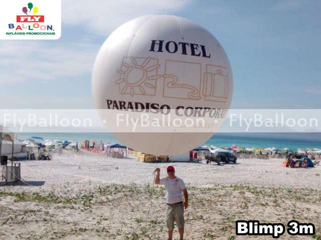Balao Promocional Blimp Aereo hotel paradiso Cabo Frio