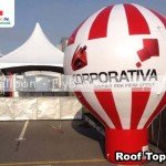Balao promocional roof top corporativa internet