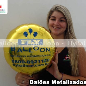 Baloes Metalizados Personalizados redondo