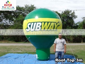 balao promocional roof top subway