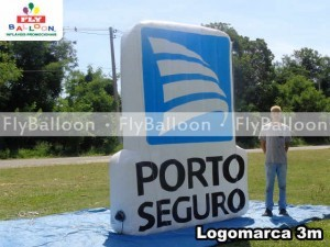 Inflatable logo in maranhao