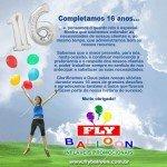 fly balloon baloes promocionais 16 anos