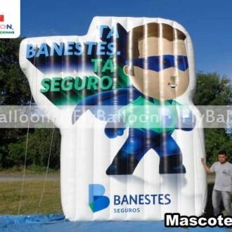 MASCOTE INFLAVEL PROMOCIONAL BANESTES SEGUROS