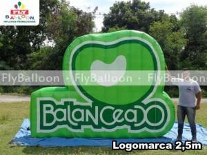 logomarca inflavel balanceado em Porto alegre - RS