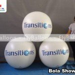 bola show inflavel promocional lentes transitions