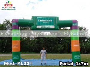 Inflatable portico in maranhao