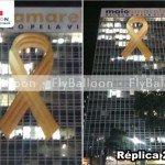 laco inflavel promocional maio amarelo CET SP