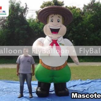 mascote inflavel promocional gaucho trilegal tche em Porto Alegre - RS