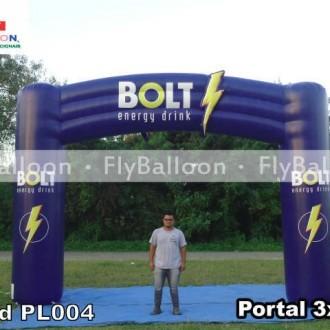portal inflavel promocional bolt energy drink