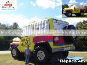 replica inflavel promocional jeep hiper saldao de veiculos seminovos em São Paulo - SP