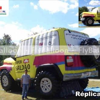 replica inflavel jeep hiper saldao de veiculos seminovos em São Paulo - SP