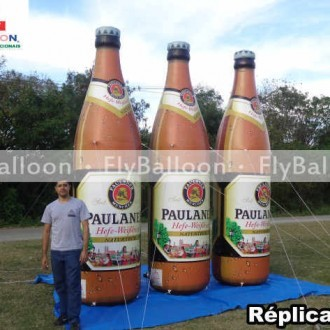 replicas promotional inflatable beer bottle Paulaner