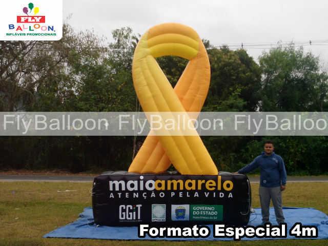 formato especial inflavel laco maio amarelo em campo grande - MS