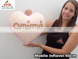 mobile inflável promocional coração anime em Blumenau