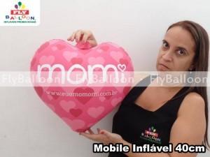 móbile inflável promocional coração momi