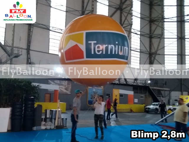 balao blimp aereo promocional ternium