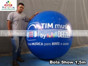 bola show inflavel promocional tim music