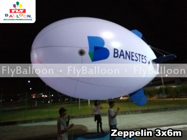 zeppelin inflavel promocional banestes em Vitoria - ES