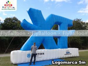logomarca inflavel promocional XT agroquima em Araguaina - TO