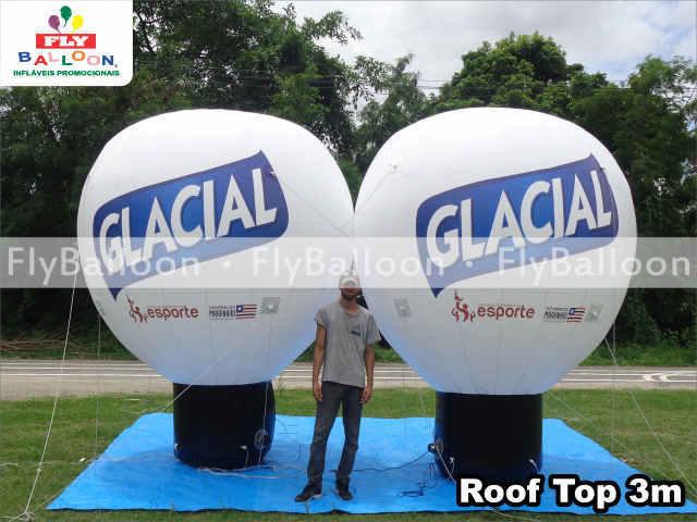 baloes inflaveis promocional cerveja glacial