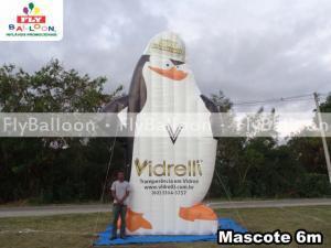 mascote inflavel promocional vidracaria vidrelli em Anapolis - GO