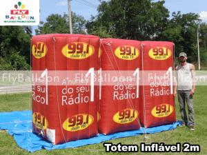 totens infláveis promocionais radio studio fm em Jaraguá do Sul - SC