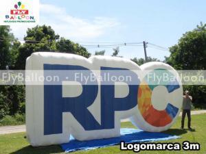 logomarca inflavel promocional RPC em Curitiba - PR