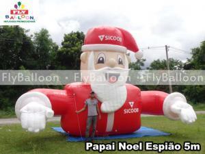 papai noel inflavel gigante promocional sicoob