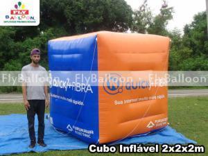 cubo inflavel promocional quicknet telecom em Volta Redonda - RJ