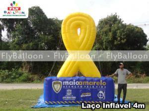 laco inflavel promocional maio amarelo prefeitura de sao sebastiao