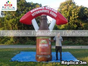 replica inflavel promocional garrafa retornavel brahma chopp