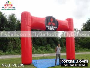 portico inflavel promocional mitsubishi motors