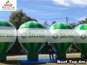 baloes gigantes inflaveis promocionais roof top sicredi