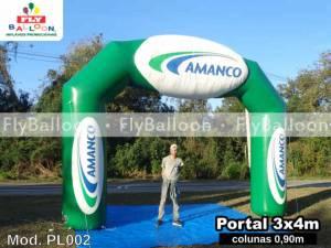 portal inflavel promocional amanco em Sao paulo - SP